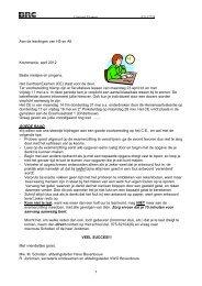 Goede raad t.b.v. eindexamen - OVO Zaanstad