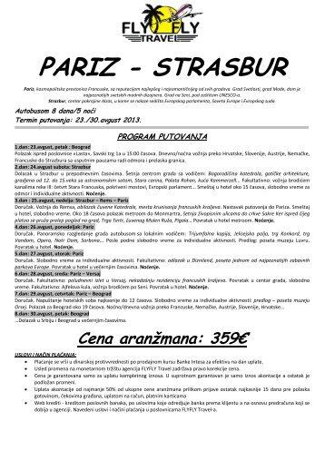Pariz - Strasbur - 8 dana - autobusom - Fly Fly Travel