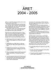 Årsberetning 2004/2005 - Dansk Skovforening