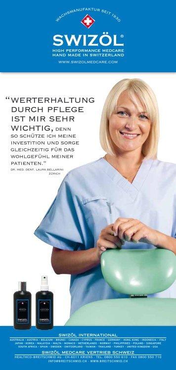 Swizöl Medcare - Reinigung und Pflege für den Behandlungsstuhl