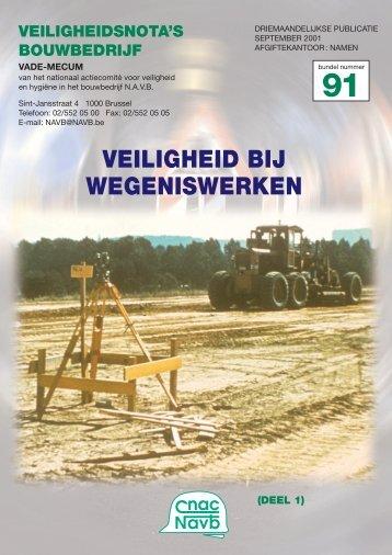VEILIGHEID BIJ WEGENISWERKEN - ffc Constructiv