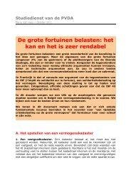 De grote fortuinen belasten: het kan en het is zeer rendabel - PTB.be