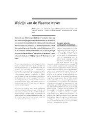 Welzijn van de Vlaamse wever - Acco