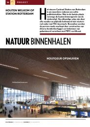 Artikel Houtwereld januari 2013 - Rotterdam Centraal Station