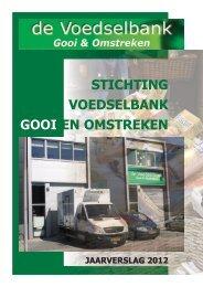 Jaarverslag 2012 Stichting Voedselbank Gooi en Omstreken