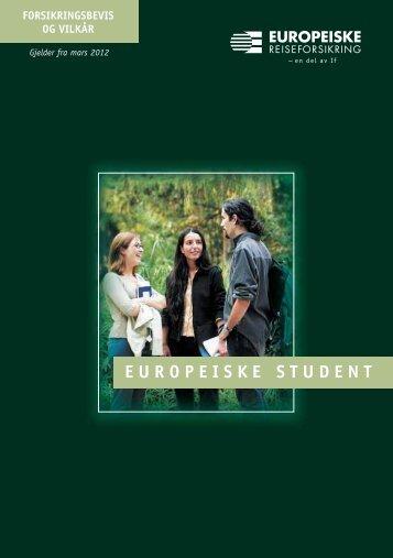 Se fullstendige vilkår - Europeiske Reiseforsikring