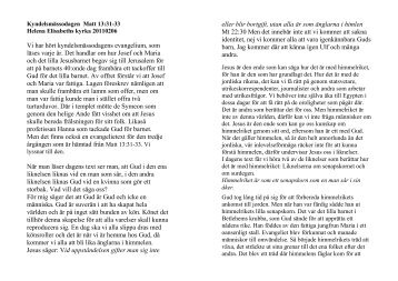 Kyndelsmässodagen 3:e Årg Matt 13:31-33 - Erik Holmlund