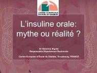Insuline oral - Association Audomaroise de lutte contre le diabète