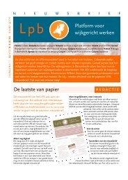 LPB-nieuwsbrief maart 2010 - DSP-groep