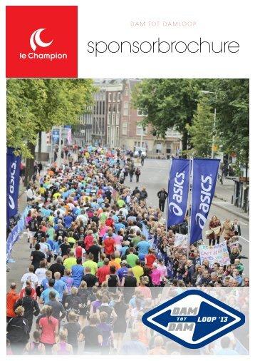 sponsorbrochure - Dam tot Damloop