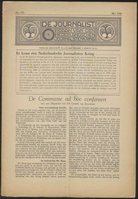 De Commissie ad hoc confereert