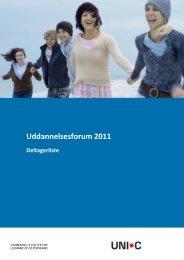 Deltagerliste for Uddannelsesforum 2011