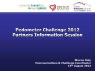 Pedometer Challenge Coordinators Information Day 15th Aug 2012 ...
