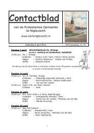 contactblad 6 april 2013 - Kerk van Nigtevecht
