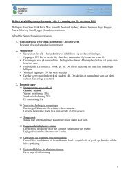 Referat fra afdelingsbestyrelsesmøde november 2011