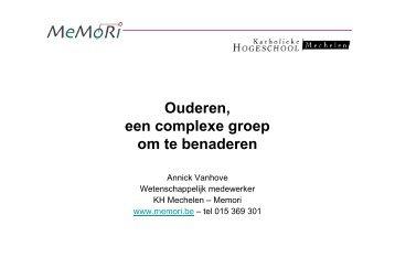 Communicatie naar senioren presentatie Annick Vanhove - Kortom