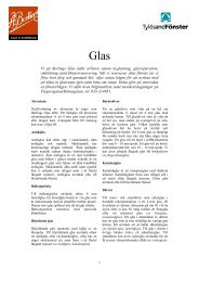Informationsblad Glas - Berlings Glas AB