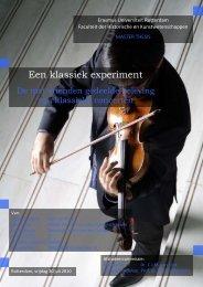 Een klassiek experiment - Erasmus Universiteit Rotterdam