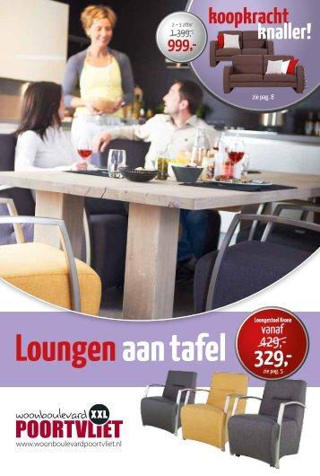 Loungen aan tafel - Woonboulevard Poortvliet