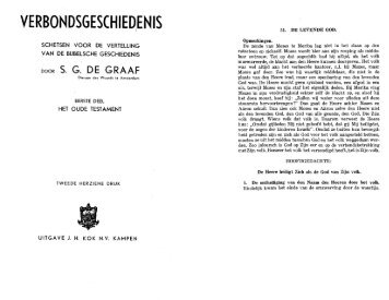 VERBONDSGESCHIED'ENIS - Christelike Biblioteek
