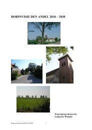Bijlage Dorpsvisie Den Andel - Besluitvorming gemeente Winsum