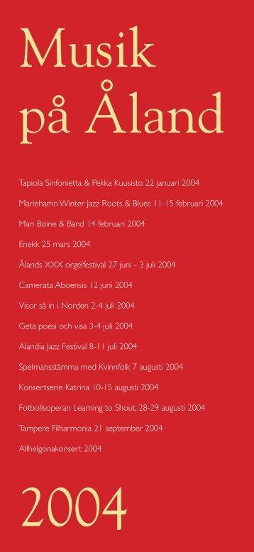 Musik på Åland 2004 - Kulturföreningen Katrina