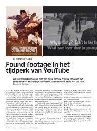 Found footage in het tijdperk van YouTube - Mediafonds