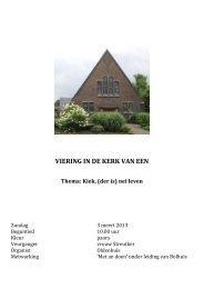 VIERING IN DE KERK VAN EEN - RTV Drenthe