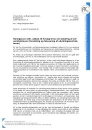 forenkling og fokusering af udviklingskontrak