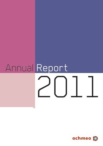 Achmea Annual Report 2011