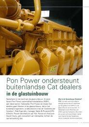 Pon Power ondersteunt buitenlandse Cat dealers - Pon / Cat