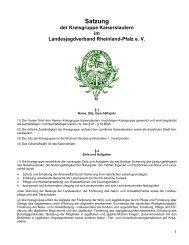 Satzung der Kreisgruppe Kaiserslautern im Landesjagdverband