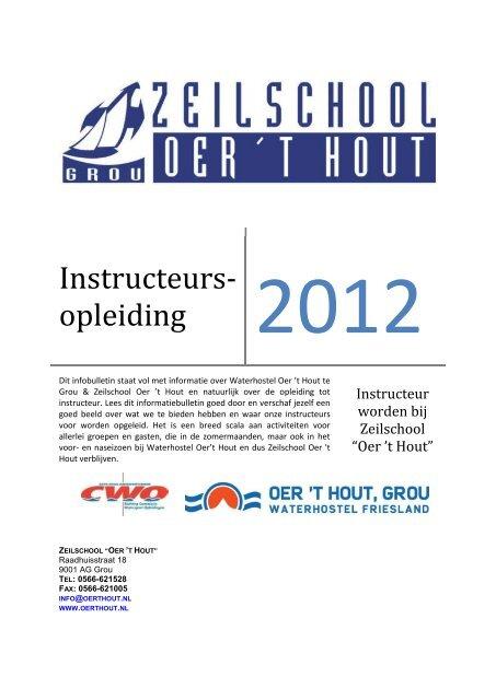Informatie brochure 2012 om zeilinstructeur te worden