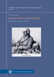 Johann Friedrich Blumenbach - Akademie der Wissenschaften zu ...