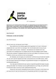 PPF Bertrand Antwerpen eerste zonneschijn - Passa Porta