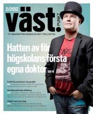 Västpunkt nr 2/2012 - Högskolan Väst