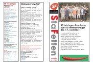 SF Helsingørs kandidater klar til kommunevalget den 17. november ...