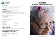 Avgifter inom äldre- och handikappomsorgen