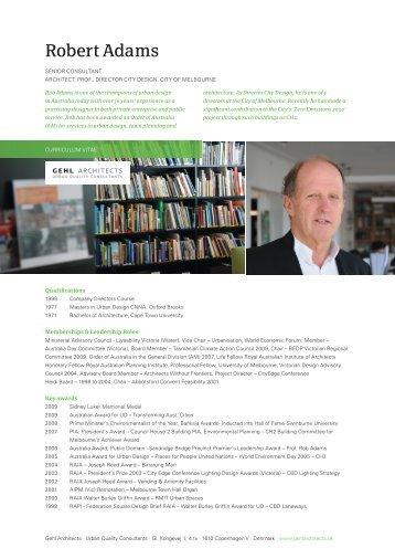 Robert Adams - Gehl Architects
