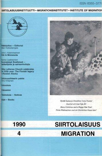 1990 - 4 - Siirtolaisuusinstituutti