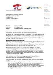 Brief CG-Raad en Platform VG