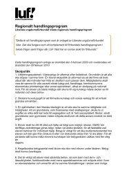 Regionalt handlingsprogram - Liberala ungdomsförbundet