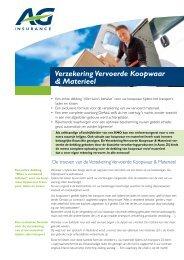 klantenfiche - AG Insurance