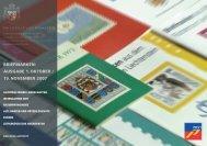 Briefmarkenausgabe 1. Oktober/19. November 2007 - Philatelie ...