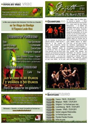 Numéro 1 - Le Festival des Festivals 2011