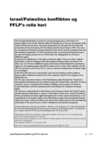 Israel/Palæstina konflikten og PFLP's rolle heri - Fighters + Lovers