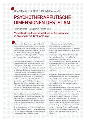 PsychotheraPeutische Dimensionen Des islam