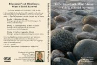 Feldenkrais® och Mindfulness Volym 4 Fysisk harmoni