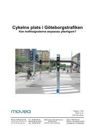 Cykelns plats i Göteborgstrafiken - Movea Trafikkonsult AB