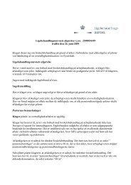 Ligebehandlingsnævnets afgørelse i j.nr. 2500054-09 truffet den 26 ...